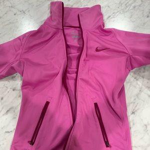 Women's Small pink Nike zip-up sweatshirt